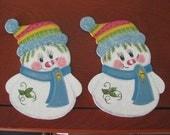 Ornaments,  snowman, Christmas, handpainted, teacher gift.