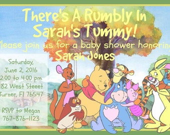 Winnie The Pooh Baby Shower Invitation Download