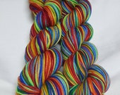 Saturated Sock Selfstriping  12 color Rainbow