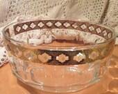 Vintage Culver Glassware Valencia Pattern Serving Bowl, Arcoroc France