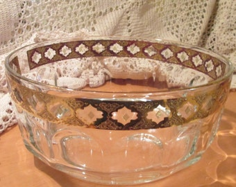 Vintage Culver Glassware Valencia Pattern Serving Bowl, Arcoroc France