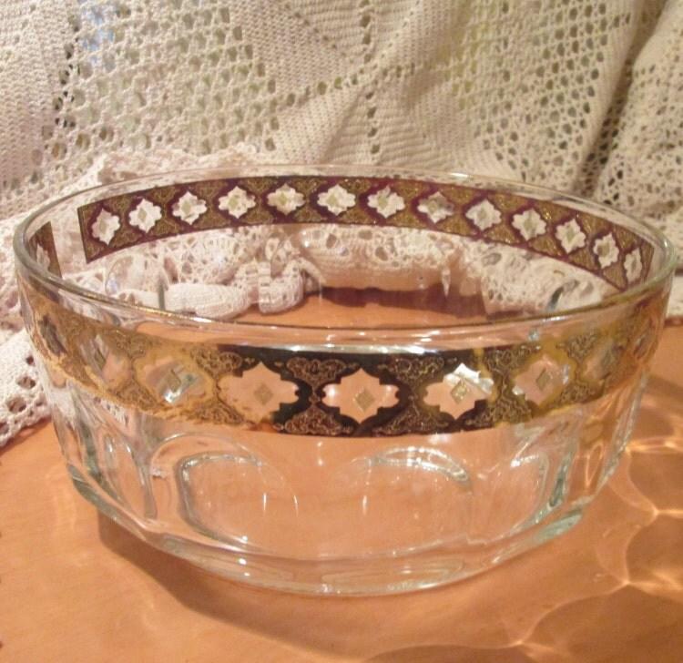 Vintage culver glassware valencia pattern serving by - Vintage valencia ...