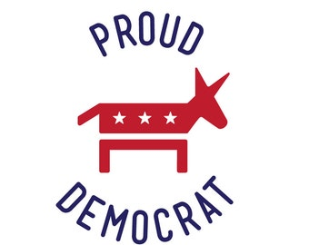 Proud Democrat Vinyl Decal Sticker