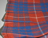 Baby Kilt, 6-12m, Hamilton Red Ancient Tartan Baby Kilt, 8oz lightweight wool. Handmade in Scotland