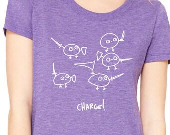 Charge! Womens T shirt - Bella Triblend Scoop Neck  -  S,M,L,XL,2XL