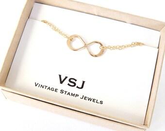 Infinity Bracelet, Bridesmaid Gift, Wedding Bracelet, Sterling Silver, bridal jewelry, best friends, friendship bracelet