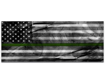 Armed Forces Flag 'American Glory Military Tribute' by Eric Waddington - US Military Art Camo Wall Decor on Metal or Acrylic