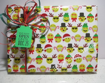 EMOJI Christmas Gift Wrap, EMOJI Wrapping Paper, 10 feet long x 24 inches wide