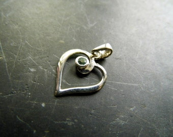 Pendant, sterling silver, heart, aquamarine, jewelry, love, silver