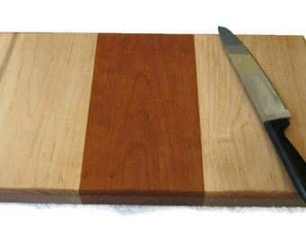 Thick Wood Cutting Board, Chef's Cutting Board, Chopping Board, Maple Cutting Board, Cherry Cutting Board, Heavy Cutting Board, Multi Wood