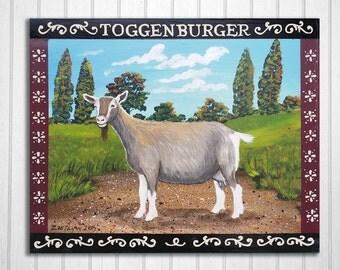 Toggenburg Goat Original Painting