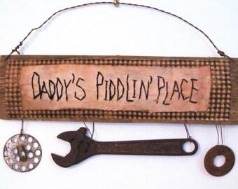 Primitive GARAGE or WORKSHOP Sign for Daddy or Fathers