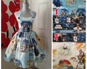 Custom Made to Order Star wars Sweet Heart Dress Sz X-Small to 3X