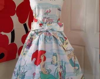 Custom Made to Order Disney Little Mermaid party Dress Sz Small to Large
