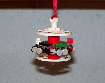 Christmas in July Handmade LEGO Train Christmas Ornament