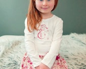 Snowman Twirl Skirt Set with Matching Snowman Over the Top Hair Bow