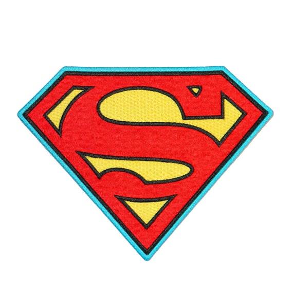 Superman Symbol S-Logo Patch Superhero Costume Emblem DC Comics Iron-On Applique
