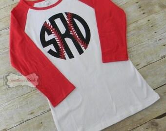 Women's Monogrammed Baseball Tee