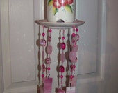 Pink Floral bird feeder / wind chime