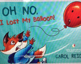 Oh No, I Lost My Balloon! Children's book - great birthday gift add your own balloon