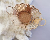 Vintage Wicker Basket + Home Decor + Trinket Holder