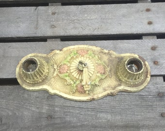 Antique Cast Iron Light Fixture