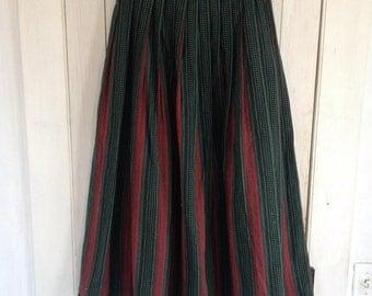 Green & Red Skirt