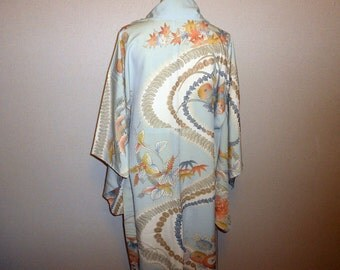 Vintage kimono - Traditional scenery, 1960s