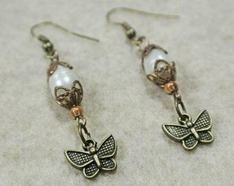 Vintaj Brass Mini Butteflies Earrings
