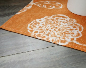 Fall Table Runner- Table Topper - orange - Table Decor - Fall Decor - Thanksgiving -  Fall Decorations - Orange Table runner