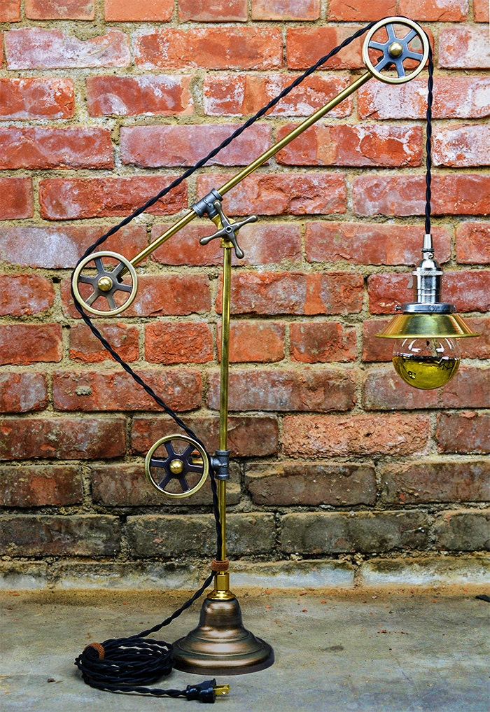 Pulley Table Light Steampunk Pulley Lamp Antique Style