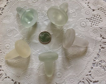 Bottle Stoppers Genuine Beach Sea Glass Surf-tumbled Nicely Frosted