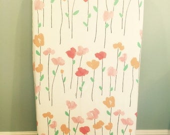 Floral Crib Sheet • Vintage Fitted Sheet • Baby Girl Nursery • Girls Bedroom