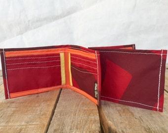 Recycled sail cloth Wallet, Hobie Cat, ultralight sailcloth, eco billfold, vegan wallet