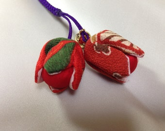 Handmade floral charm from Japan.