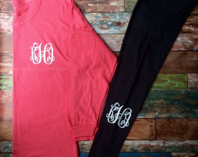 Monogrammed Pullover, Pom Pom Pullover, Monogrammed long sleeve Tunic, Athletic, Preppy, Personalized Jersey, Team Warm Ups