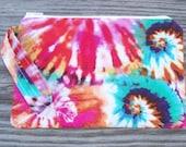 Wristlet Purse, Wristlet Clutch, Cell Phone Wristlet, Wristlet Wallet, Tie Dye Print, Hippie Tie Dye Fabric, Bags and Purses
