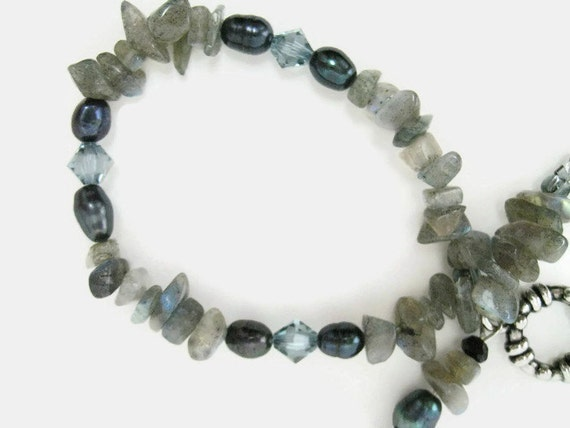 Labradorite Bracelet handmade beaded bracelet Freshwater pearl bracelet womans bracelet handmade jewelry gift for her Birthday Swarovski