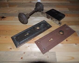 Antique door knob set