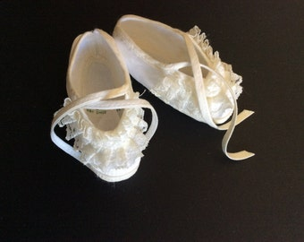 Vintage Baby Crib Shoes-Booties