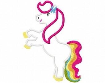 Horse Applique Embroidery Design- Instant Download