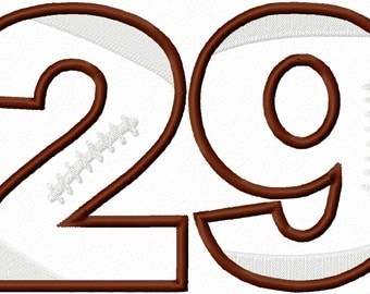 Football Numbers Applique Embroidery Designs - Instant Download