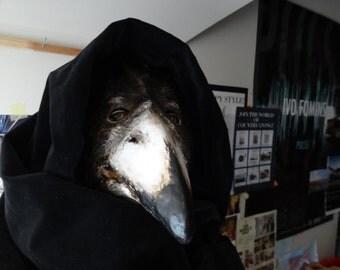 Plague Doctor mask, Paper mache mask, crow mask, raven mask, bird mask, bird costume, masquerade mask, mens masquerade mask, Halloween mask
