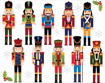 Clipart - Christmas / Royal Nutcrackers - Digital Clip Art (Instant Download)