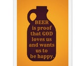 Beer Quote Card, Birthday Card, Card for Friend, Card for Brother, Growler Card, Card for Dad, Thank You Card, 21st Birthday Card, Fun Cards