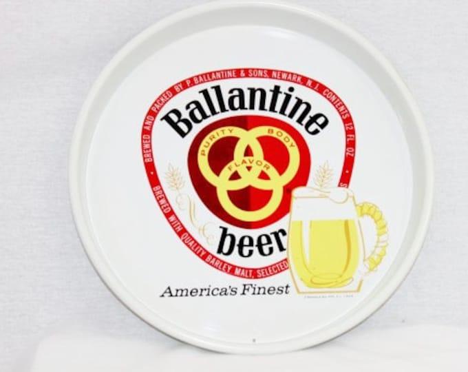 Vintage 1970s Ballantine Beer Tray, Barware, Beer Advertisement