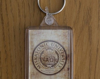 Miskatonic University, Lovecraft, Cthulhu, Key Ring, Key Fob