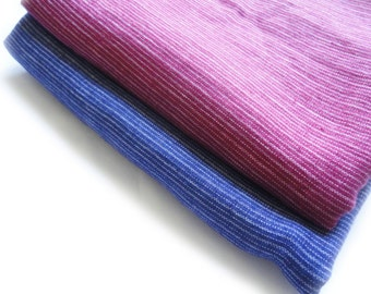 Red blue softened striped linen fabric , natural linen, linen textile, cloth  fabric, linen accessories, supplies