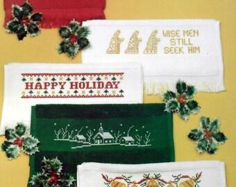 Christmas At My Fingertips No. 18 Faye Raye Cross Stitch Pattern Towels