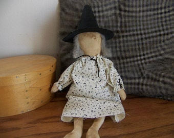 Small Primitive Witch Doll/Shelf Sitter